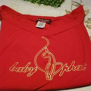 💫baby phat Jean Co. Size 1x Red Top💫